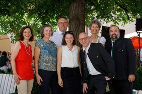 ARGE Bildungshäuser Delegation bei der 100-Jahr-Feier im Bildungshaus Schloss St. Martin; Foto: Gerd Neuhold