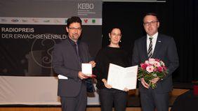 Radiopreisüberreichung an Hofbauer durch Lengauer und Sandrisser